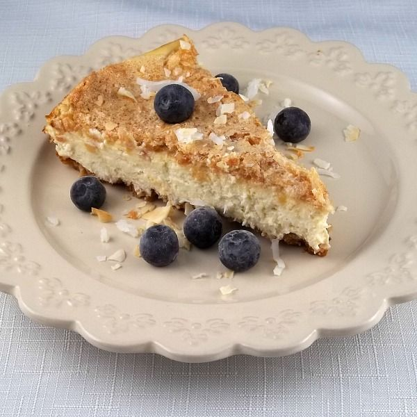 Paleo Coconut Macaroon Cheesecake gluten free, refined sugar free, low carb