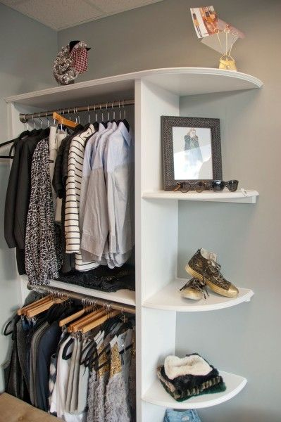 For a room without a closet
