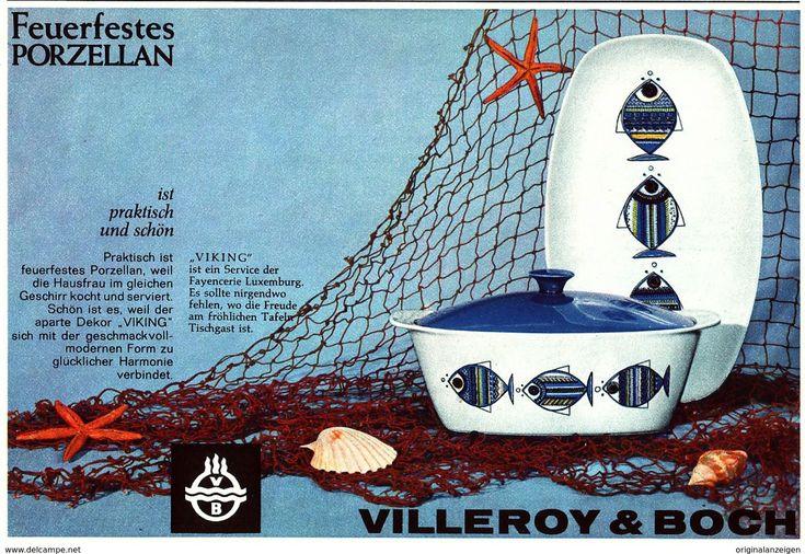 "Original-Werbung/ Anzeige 1962 - FEUERFESTES PORZELLAN ""VIKING"" - VILLEROY & BOCH - Ca. 200 X 130 Mm - Werbung"