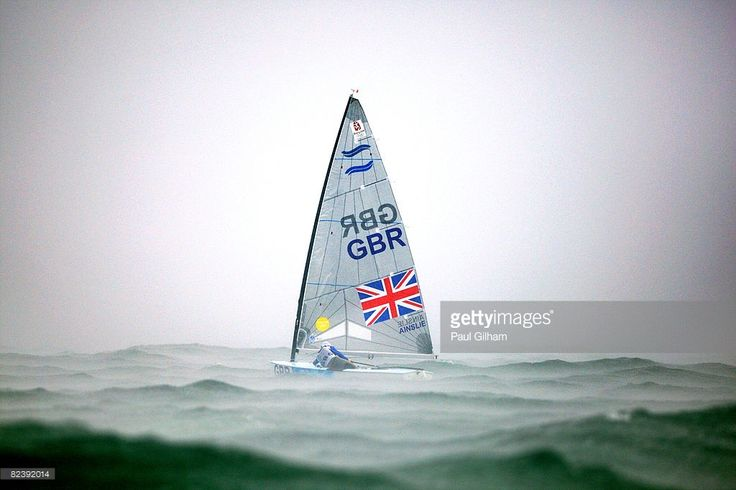 Ben Ainslie of Great Britain prepares to compete in the Finn class medal race held at the Qingdao Olympic Sailing Center during day 9 of the Beijing 2008 Olympic Games on August 17, 2008 in Qingdao, China.