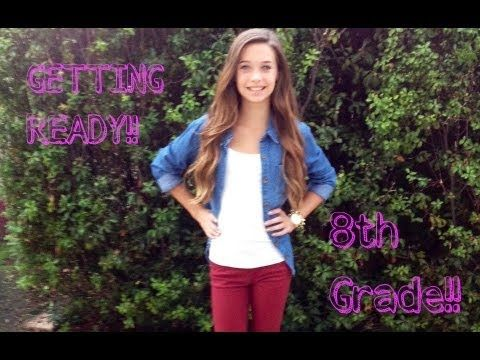Great ideas on outfit/ hair/ make up for first day of 8th grade! ;)