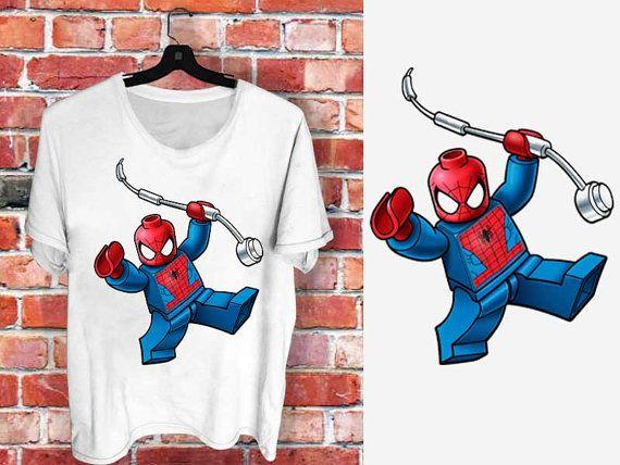 Lego Tag Spiderman  a 100 cotton branded Tshirt by communityshirt, $15.50