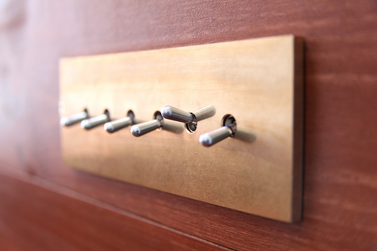 SWBR [Light switches] , Material:Brass , Design:Mimasis Design , Manufacture:Sakamoto Kosakusho