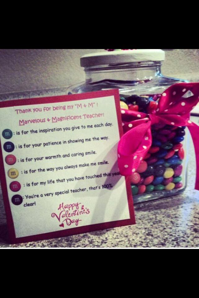 Valentine's teacher gift Idea