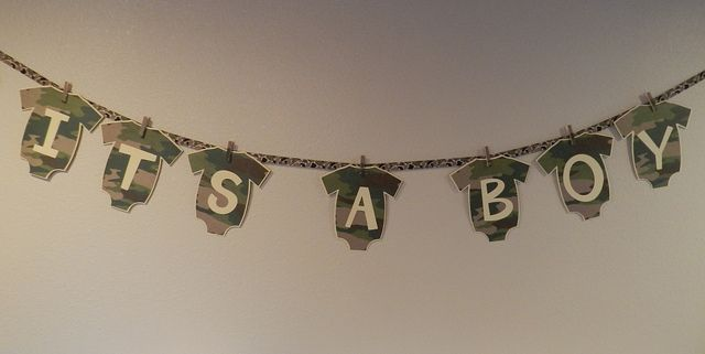 camouflage baby shower | Camo Baby Shower Banner Its a Boy | Flickr - Photo Sharing!