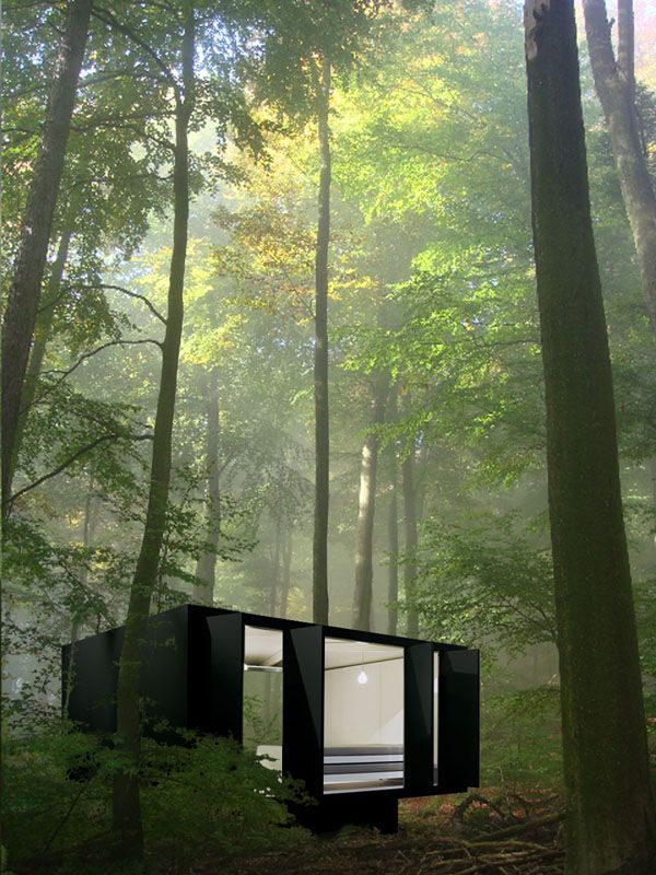 Eric Degenhardt. Landed: Concept and prototype of an architectural unit for German company Richard Lampert. Prefabricated, sustainable sandwich construction.