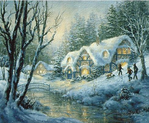 Beköszöntött újra a tél. Vastag a hótakaró, mint a paplan, tetejére kérget vont a hideg szél. Kristályragyogás a nap csillaga tündököl rajta ezer...