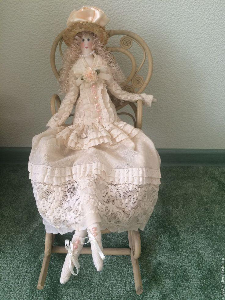 """Купить Тильда - """"Барышня"""" - бежевый, тильда, тильда кукла, тильда принцесса, тильда фея, тильды"""