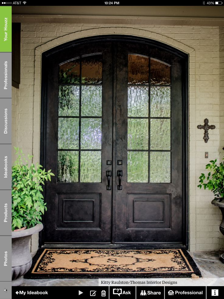 Best 25 double doors exterior ideas on pinterest double for Black wooden front door