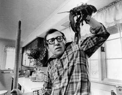 Woody Allen making dinner in Annie Hall