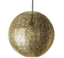 Orientalna LAMPA wisząca MESH PL-13102-G Zumaline metalowa OPRAWA zwis kula ball mosiądz