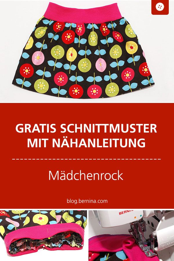 Mädchenrock mit Sommerblumen