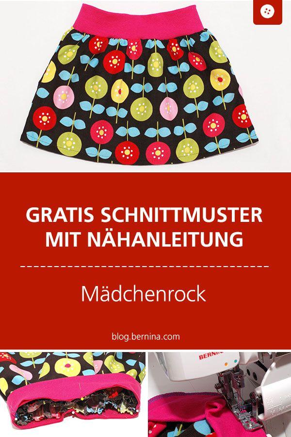 Mädchenrock mit Sommerblumen – BERNINA Nähmaschinen GmbH
