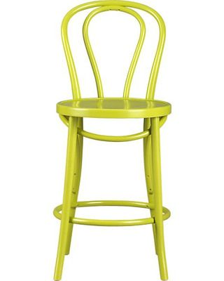 This barstool packs a punch of color! Get it here: http://www.bhg.com/shop/crate-and-barrel-vienna-green-24-barstool-p501a9ab382a797dc894dade6.html?mz=a