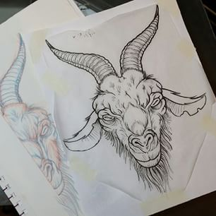 goat head how to draw