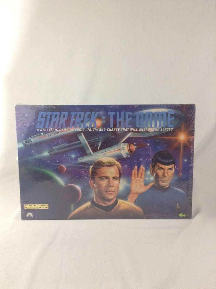 New Sealed Limited Edition Star Trek 1992 Family Board Game Sci Fy TV Show