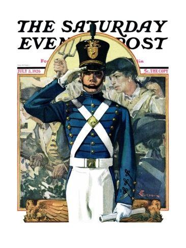 """Military School Graduate"" by Elbert Mcgran Jackson. Issue: July 3, 1926. © SEPS. Giclee print at Art.com"