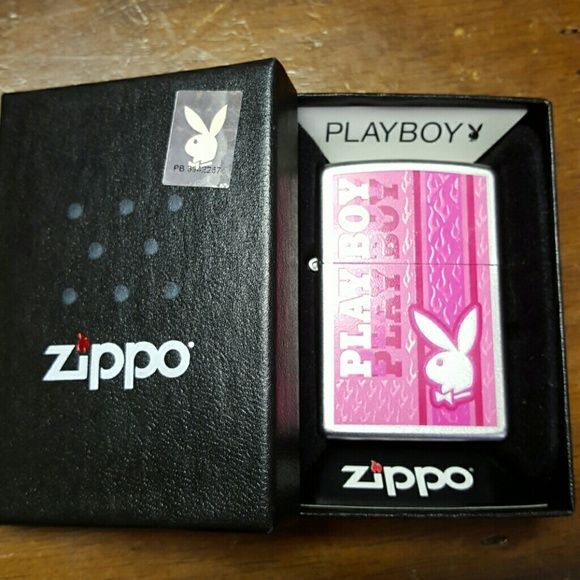 Official playboy bunny zippo lighter Zippo lighter In perfect  shape no scractches, original box Will fill with zippo fluid before shipping! Other