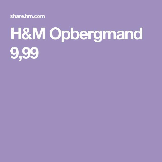 H&M Opbergmand 9,99