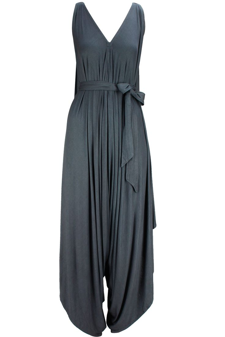 Grey micki jumpsuit available only at Pernia's Pop-Up Shop.