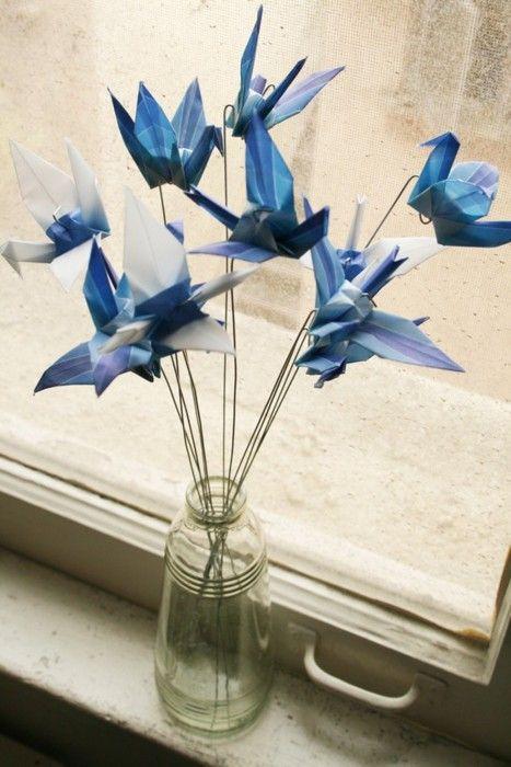 Adorno con grullas • Origami Cranes