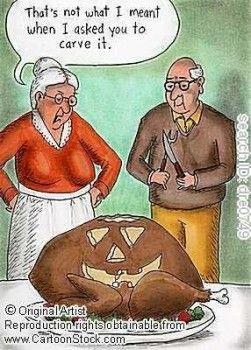 Thanksgiving pumpkin humor