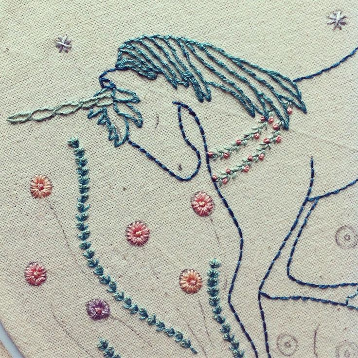 I have other things to do today but I want to stay in my stitchy flowery unicorn happy place #unicornsarereal #happystitching
