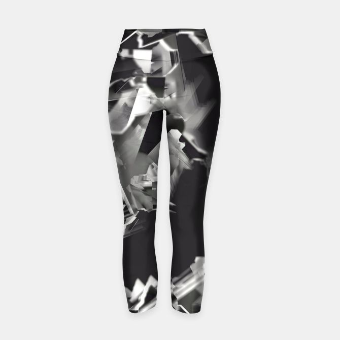 Silver glass Yoga Pants