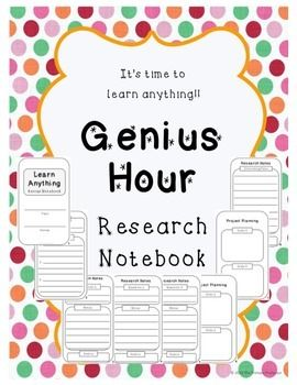 This Genius Hour Research Notebook is a tool to help incorporate Genius Hour into your classroom. Genius Hour is based on Googles 20% time and gives students class time to learn about their passion. This is an 8-page notebook used to guide students in their passion research and project planning.