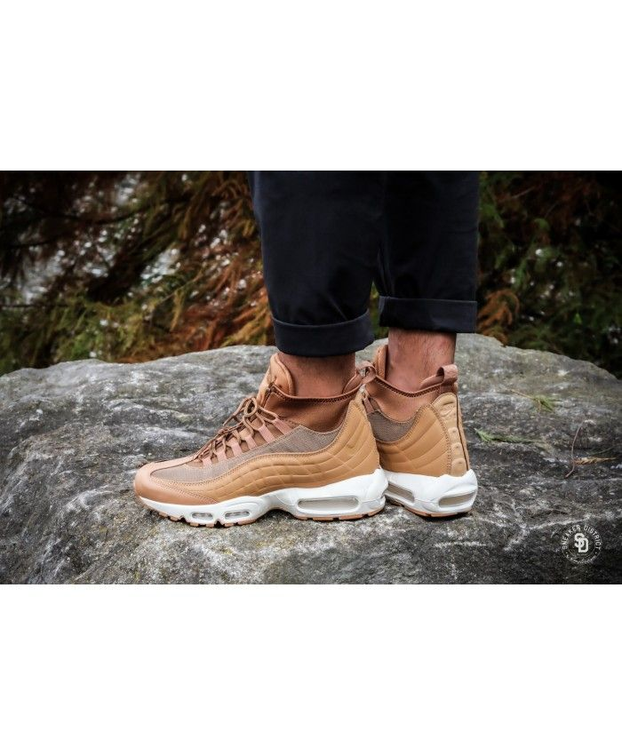 1c85fdc763 Nike Air Max 95 Sneakerboot Flax Ale Brown Sail Trainer | nike air ...