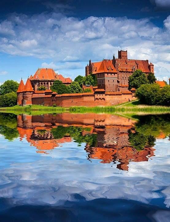 Malbork Castle, in the Żuławy region of Poland