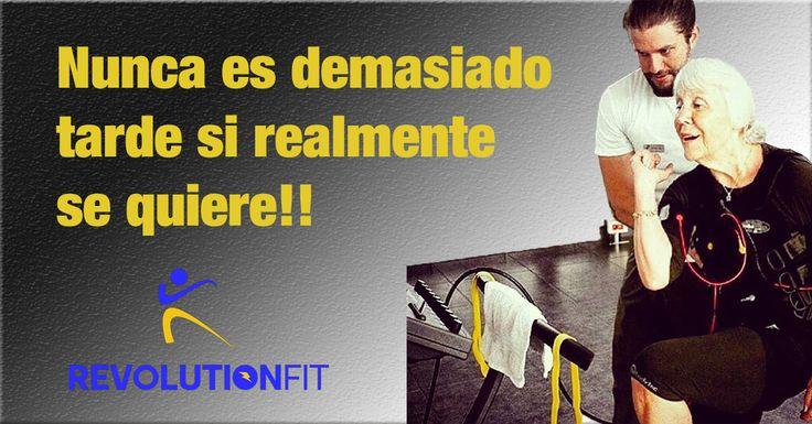 Nunca es demasiado tarde si realmente se quiere!! #Laedad  #noesunproblema  #Sisequiere  #sepuede  #revolutionFit #emsintegral 💪