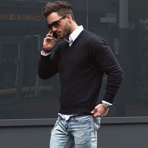 2015-11-13のファッションスナップ。着用アイテム・キーワードはサングラス, シャツ, デニム, ニット・セーター, ブレスレット,etc. 理想の着こなし・コーディネートがきっとここに。  No:131243
