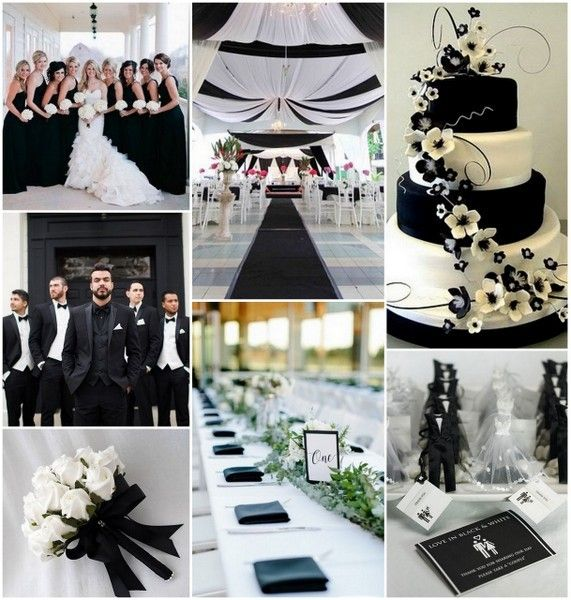 1000+ Images About Classic Black & White Wedding On