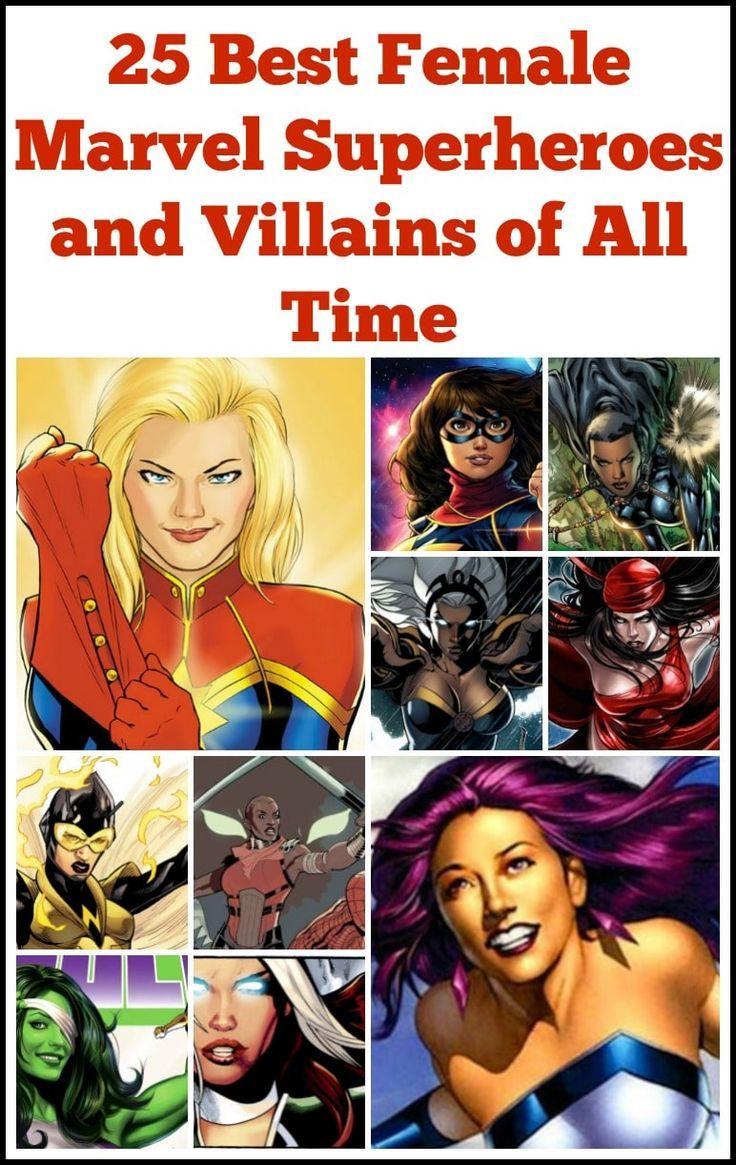 25 Best Female Marvel Superheroes And Villains Of All Time Female Marvel Superheroes Marvel Female Villains Marvel Superheroes