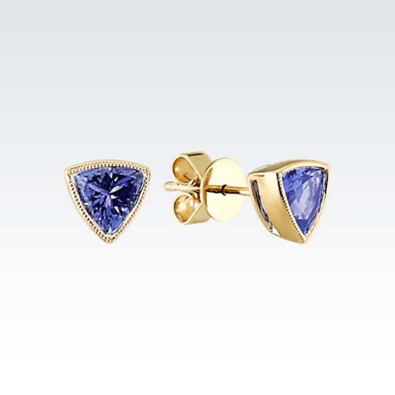 These tanzanite earrings are perfectly on trend! #ShaneCo #ShaneCoChic