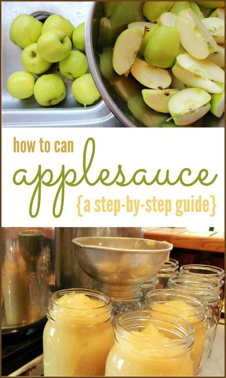Canning Applesauce {A Step-By-Step Guide} You can really use any combination of cooking apple you want. The sweeter the apple, the less sugar (if any) you will need to add.