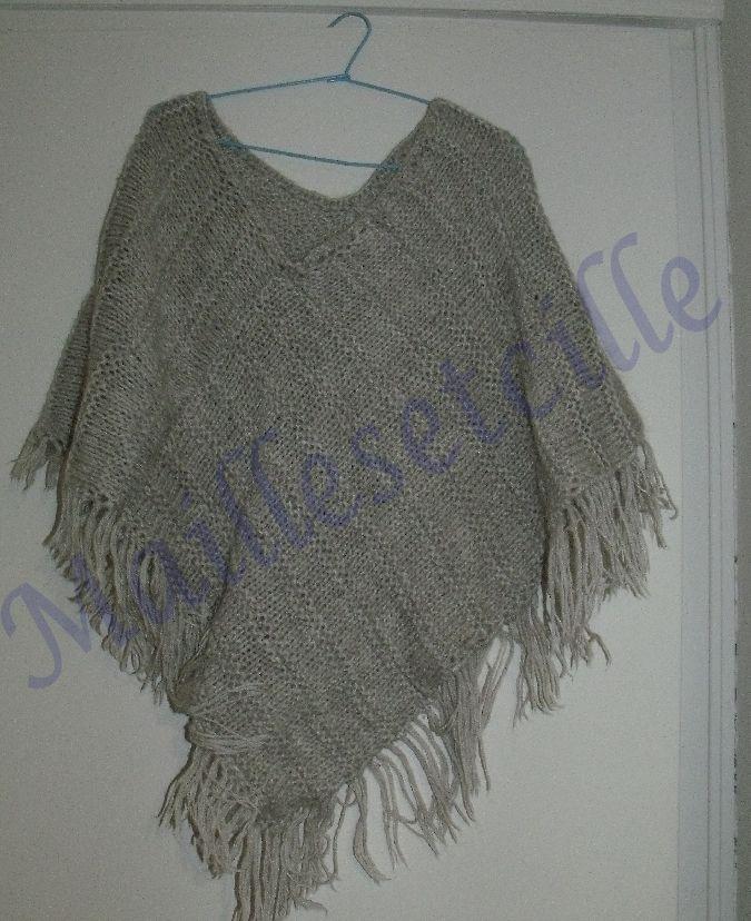 Modele tricot poncho facile - Modele mitaine tricot facile ...