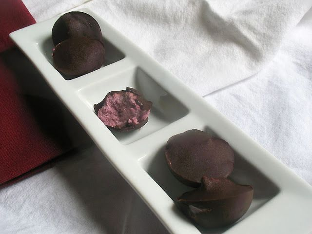 Cream Filled Raspberry Chocolates