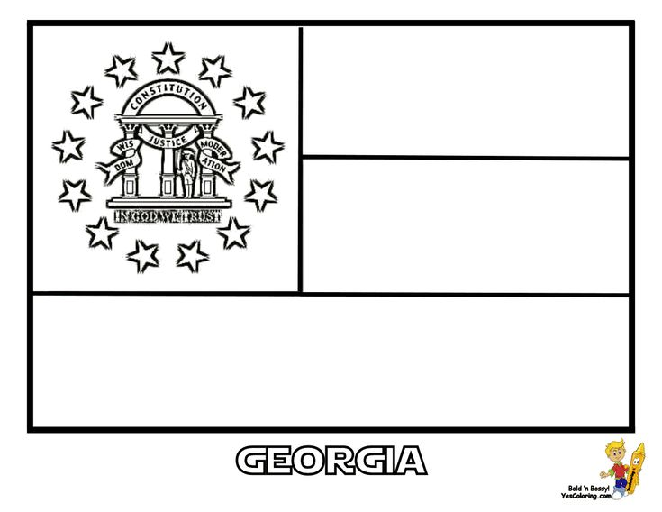 alaska state flag coloring page - georgia state coloring day flag