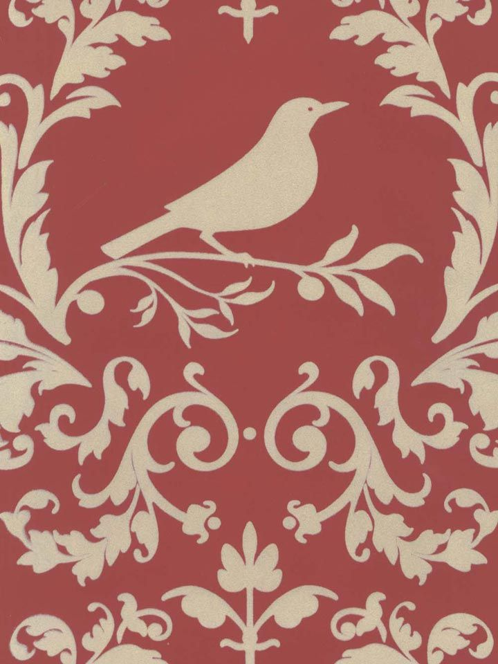 The perfect wallpaper for a bird watcher: damask in the color brick and cream velvet. From the book Velvet Collectibles III at AmericanBlinds.com #wallcovering: Wallpapers Book, Birdi Girly Flocked Wallpapers, Collection Iii, Birds Watcher, Red Wallpapers, Velvet Collection, Cream Velvet, Astek Wallpapers, Color Brick