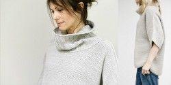 Свободный свитер спицами с описанием