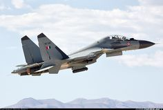 Indian Air Force, Sukhoi Su-30MKI (this variant has thrust vectoring control (TVC) and canards)