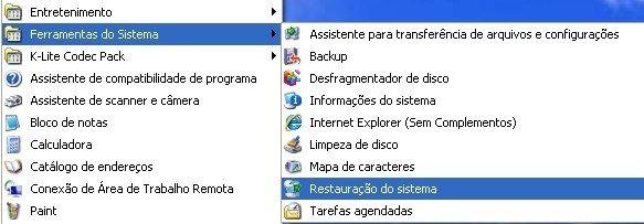 Criando um ponto de restauração no Windows XP - TecMundo