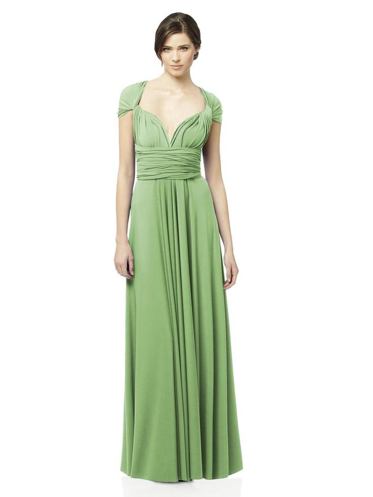 Twist Dress #green #bridesmaid #dress