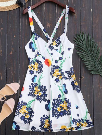SHARE & Get it FREE | Floral Open Back Empire Waist Summer Dress - WhiteFor Fashion Lovers only:80,000+ Items • New Arrivals Daily Join Zaful: Get YOUR $50 NOW!