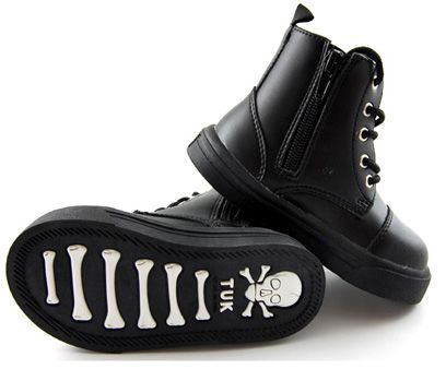 So buying these for my boy! He grew out of his soft sparkly skull boots, so he needs something new ;)