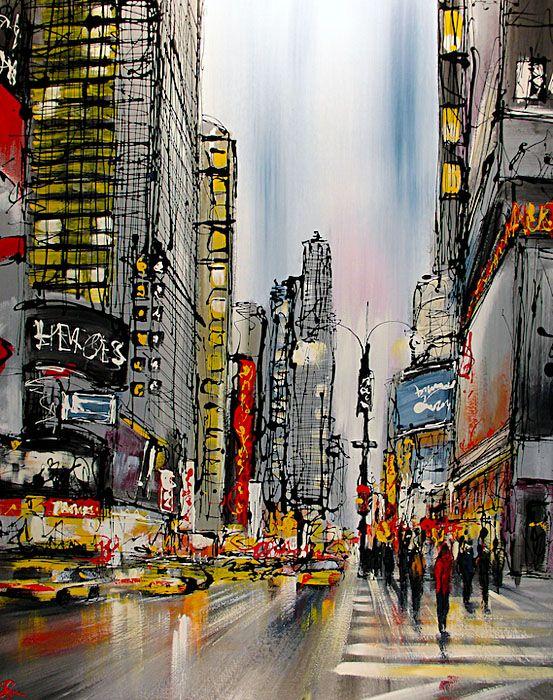 Paul Kenton - New York 76.,I love his NY paintings