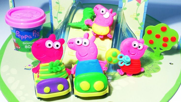 """Peppa Pig PLAY DOH Play doh peppa pig surprise eggs toys Peppa Pig Castle PlayDough http://youtu.be/ZaNwaRxedbQ Peppa Pig PLAY DOH Play doh peppa pig surprise eggs toys Peppa Pig Castle PlayDough Peppa is a cartoon for toddlers infants and preschool children about a female pig that enjoys jumping in muddy puddles. Peppa Pig World includes Daddy Pig Mommy Pig George and his Chomposaurus Dinosaur. Here is how she is also called: Porca Peppa Porquinha Peppa Cerdita Peppa 粉红猪小妹 ペッパピッグ """"Miss…"""