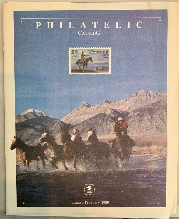 USA PHILATELIC USPS Catalog January February 1989 US Stamp